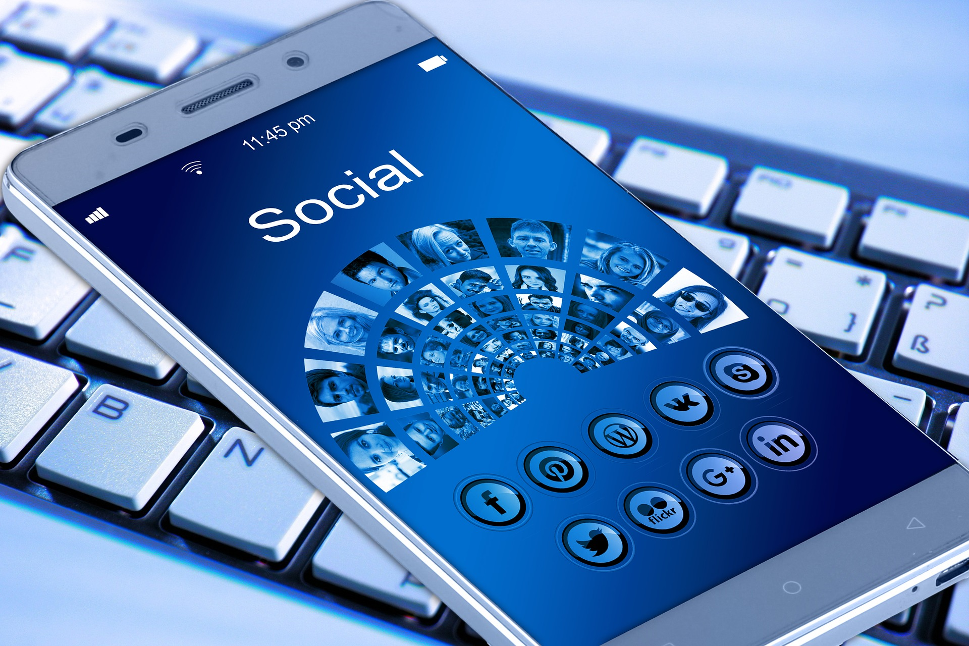 Responsive Webdesign Social Media